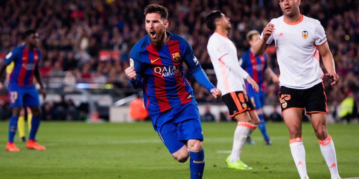 Lionel Messi mantiene vivo al Barcelona en la Liga