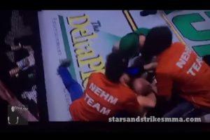 """VIDEO: Peleador de MMA """"estrangula"""" a árbitro por terminar combate y dar KO"""