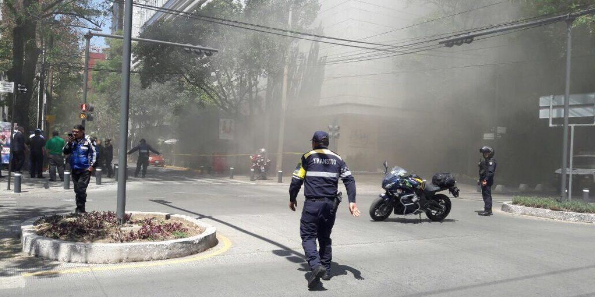 Se incendia edificio en Polanco; hay cuatro intoxicados