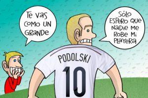 El adiós de Lukas Podolski, en el cartón del día