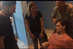 Messi cumple sueño de aficionado con parálisis cerebral