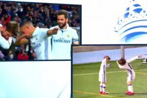 VIDEO: Niños del Real Madrid infantil imitan celebración de Lucas y Ramos