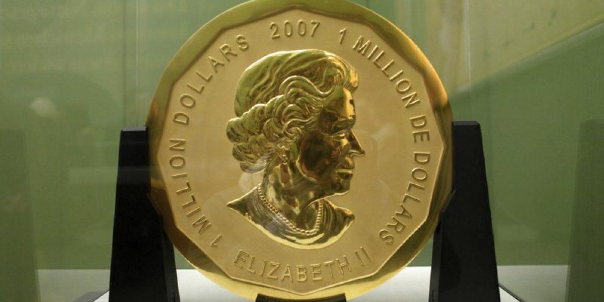Roban la moneda de oro más grande del mundo: pesa 100 kilos