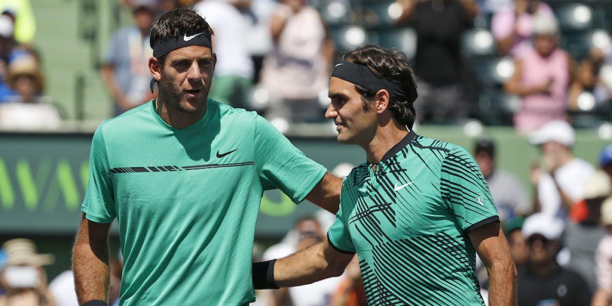 Federer elimina a Del Potro del Abierto de Miami
