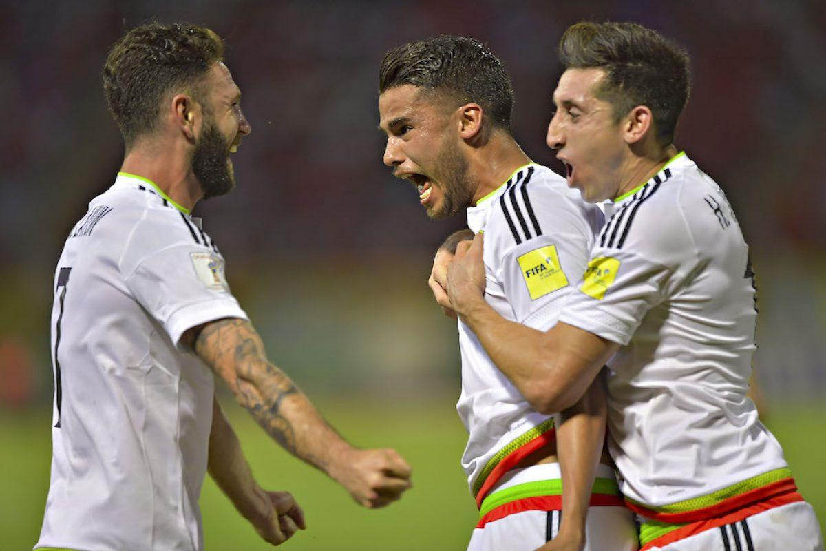 © MEXSPORT. Imagen Por: Diego Reyes anotó de cabeza. / Mexsport