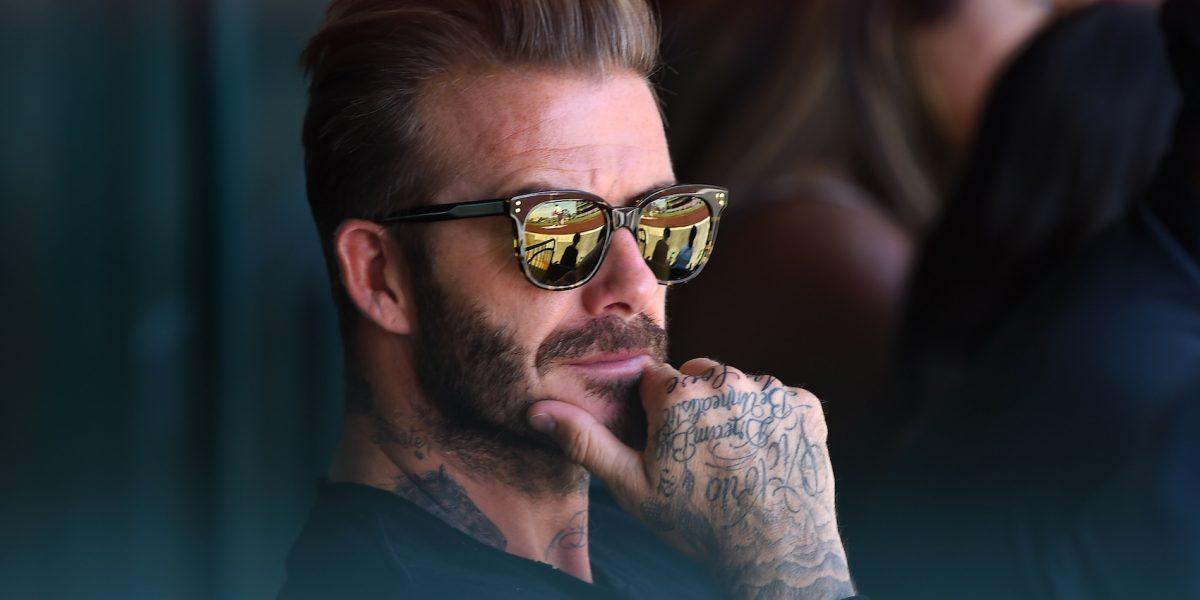 David Beckham sorprende con increíble cicatriz en el rostro