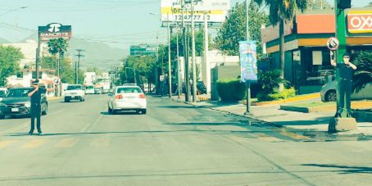 San Pedro espanta a infractores con agentes de tránsito... ¡de cartón!