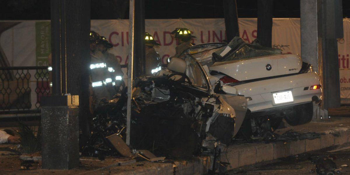 Conductor de accidente en Reforma conoció a las víctimas esa noche