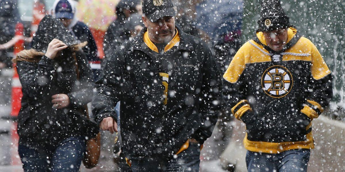 Tormenta de nieve sorprende a Nueva Inglaterra