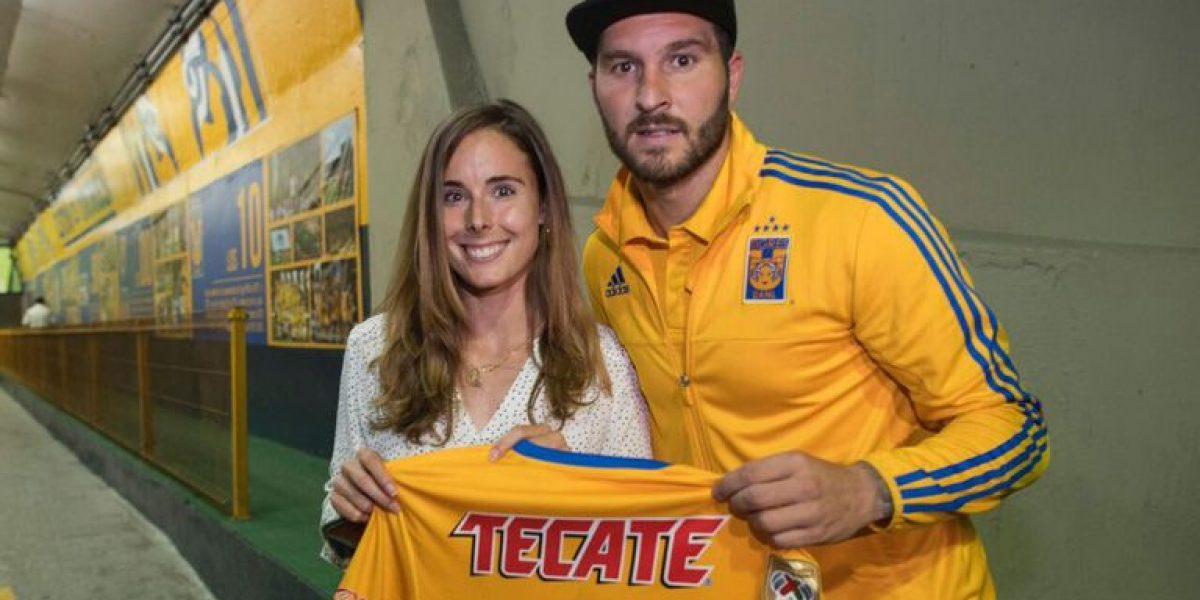 Gignac recibe visita en el Volcán de bella tenista francesa