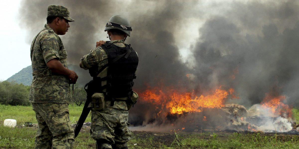 En 10 años, casi 500 militares han muerto en combate al narco