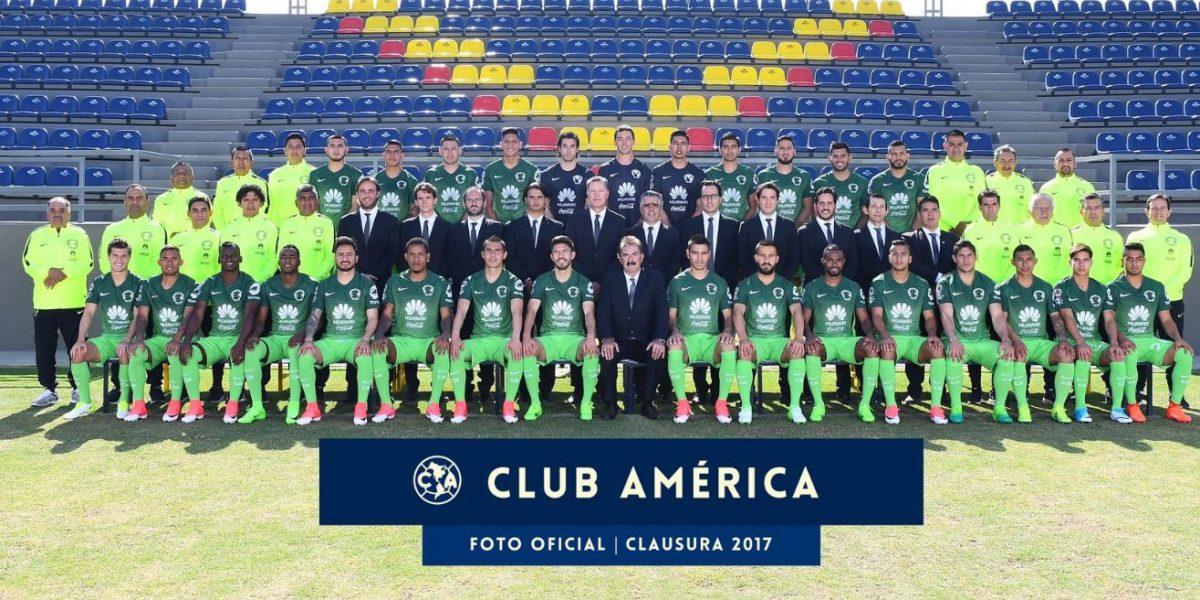 América se toma la foto oficial; Pablo Aguilar y Lainez presentes