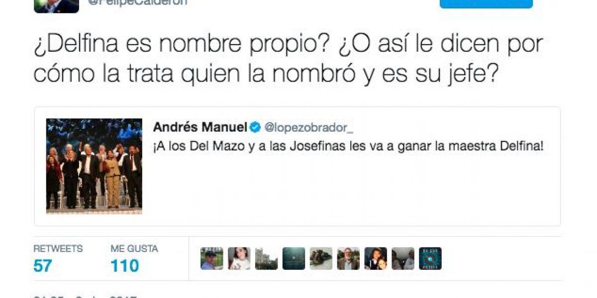 Calderón se burla del nombre de Delfina y lo tunden en redes por
