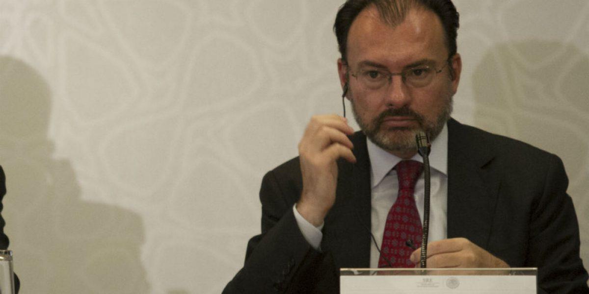 Luis Videgaray viaja a EU para acordar agenda bilateral