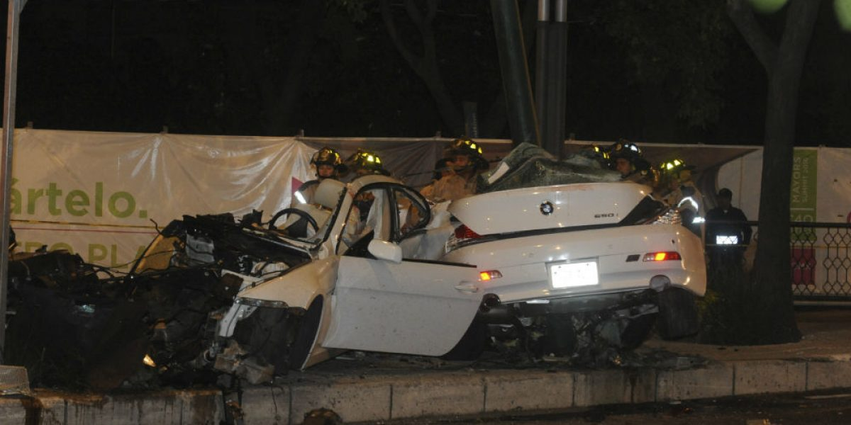 Conductor de BMW accidentado en Reforma no iba ebrio: abogado