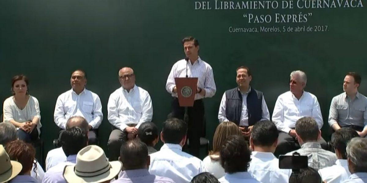 Paso Express Cuernavaca reducirá tiempo de viaje de la CDMX a Acapulco: Peña Nieto