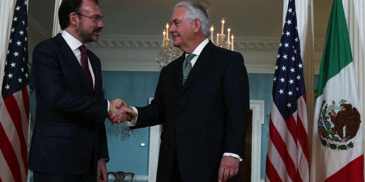 Tillerson y Videgaray hablan sobre Venezuela, migración y narcotráfico