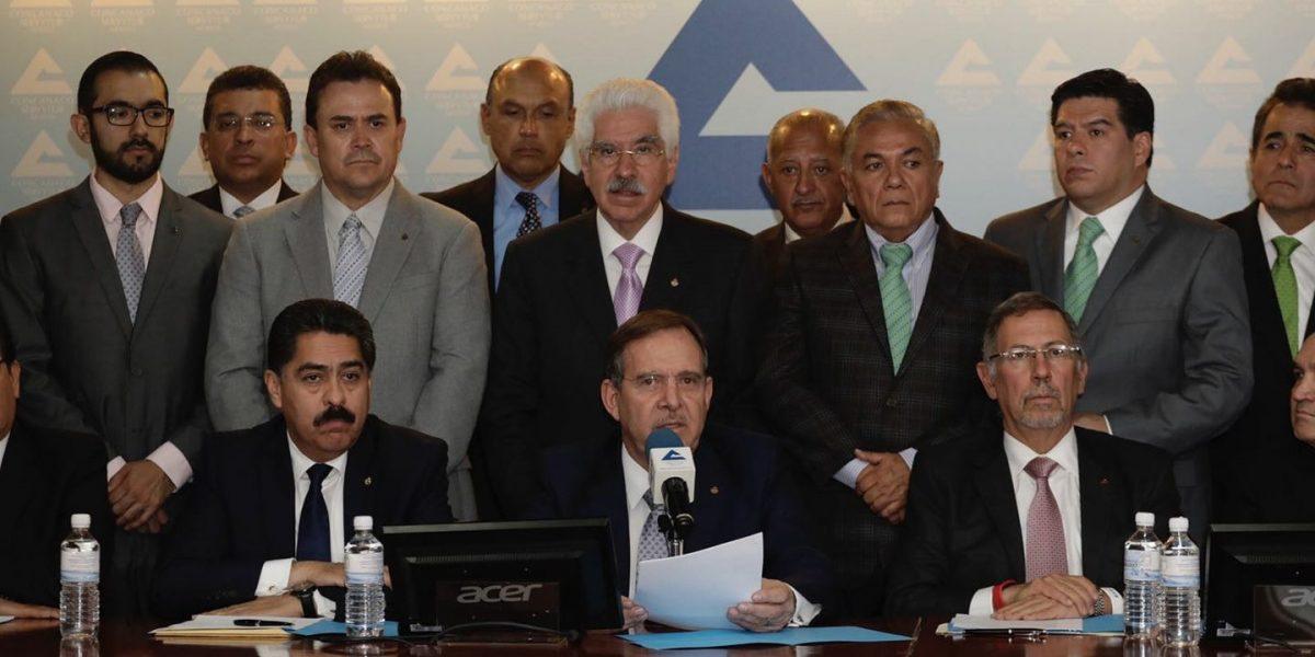 Empresarios del país refrendan su apoyo a su presidente Enrique Solana