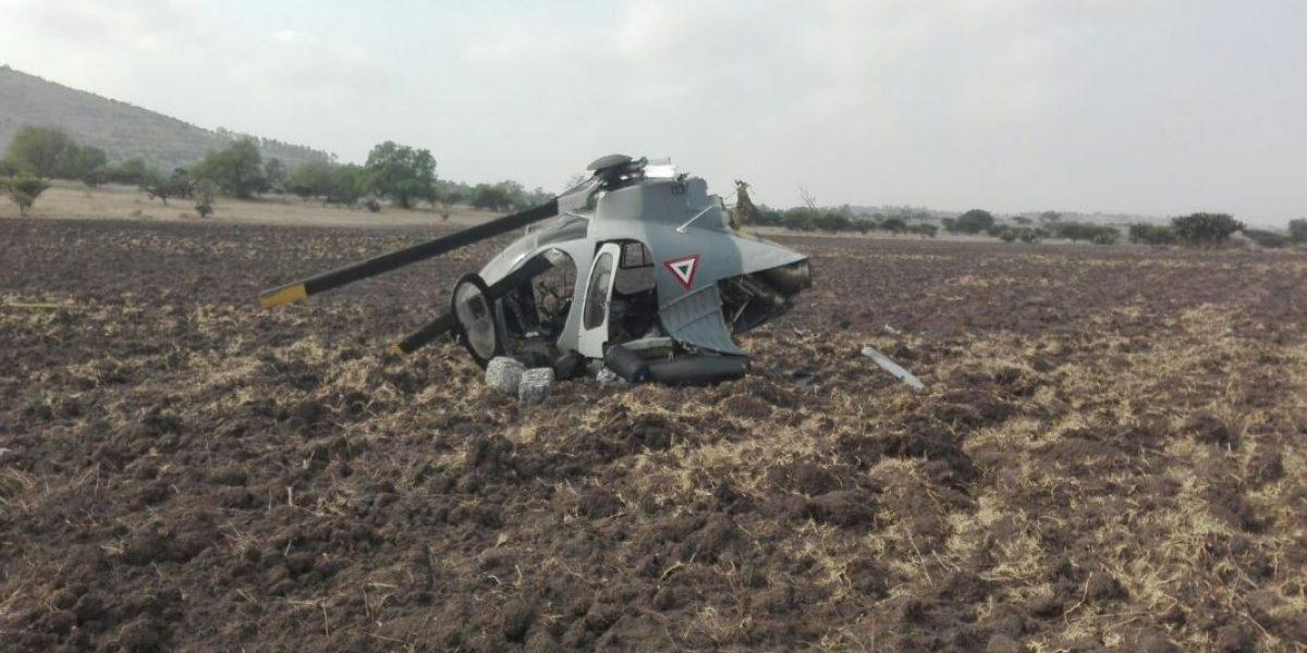 Se desploma helicóptero de la Sedena en Huehuetoca