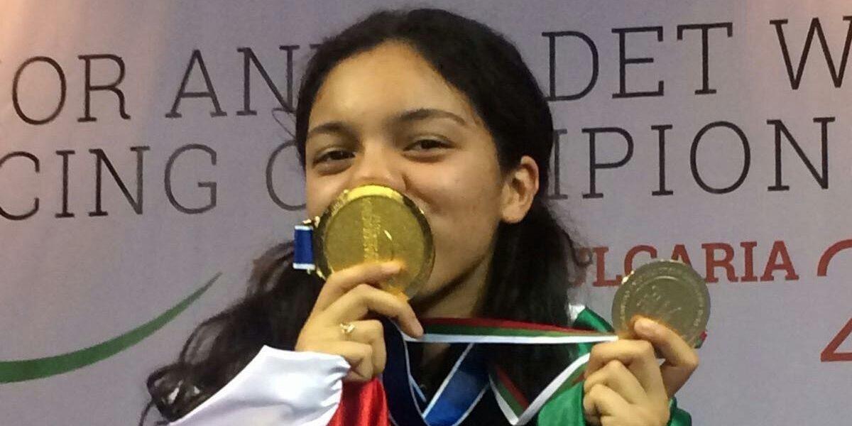 Mexicana Natalia Botello consigue título mundial en esgrima juvenil