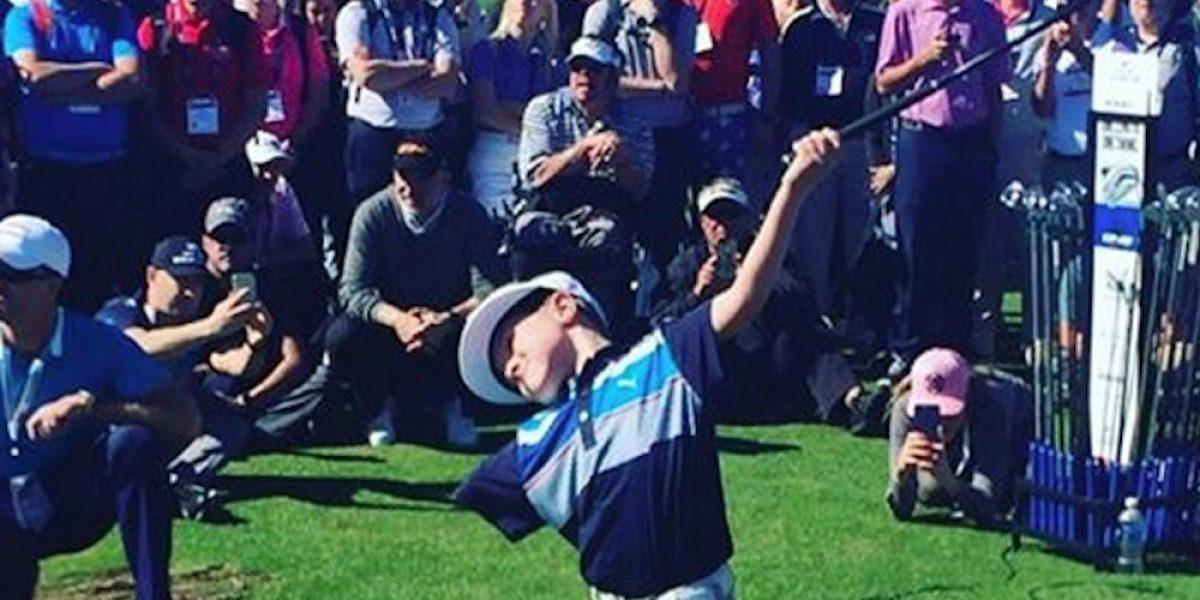 Conoce a Tommy Morrisey, el niño sin brazo que juega al golf