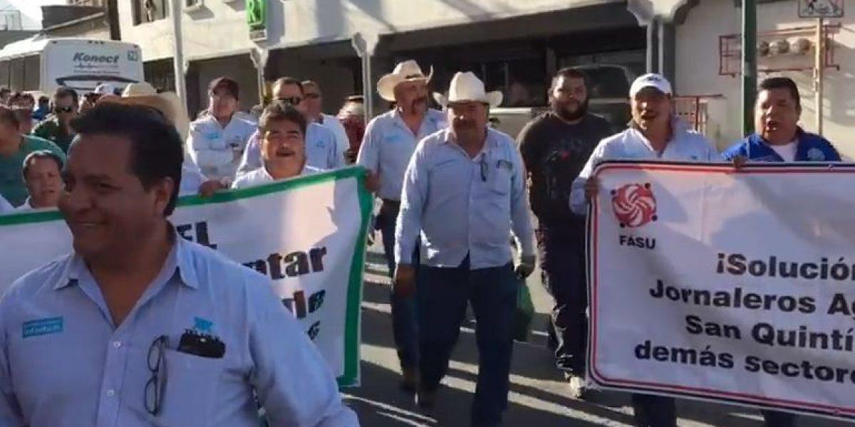 Telefonistas marchan en Monterrey contra reformas