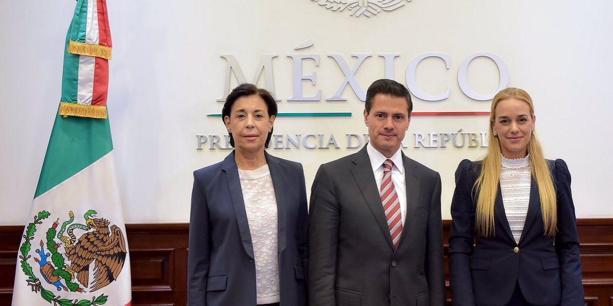 Peña Nieto y Lilian Tintori hablan sobre situación política de Venezuela