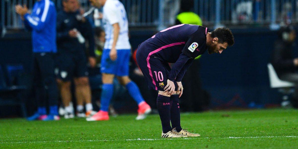 Málaga sorprende al Barcelona y evita que tome el liderato en España