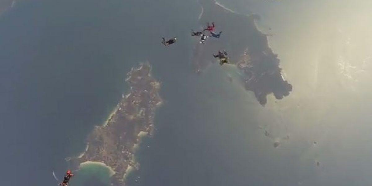 Muere al estrellarse experimentado paracaidista mexicano