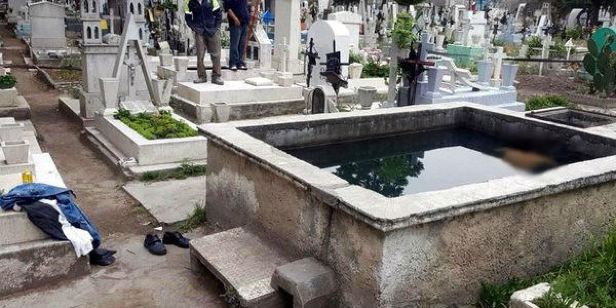 Hallan cadáver en pileta del panteón Guadalupe Mixcoac