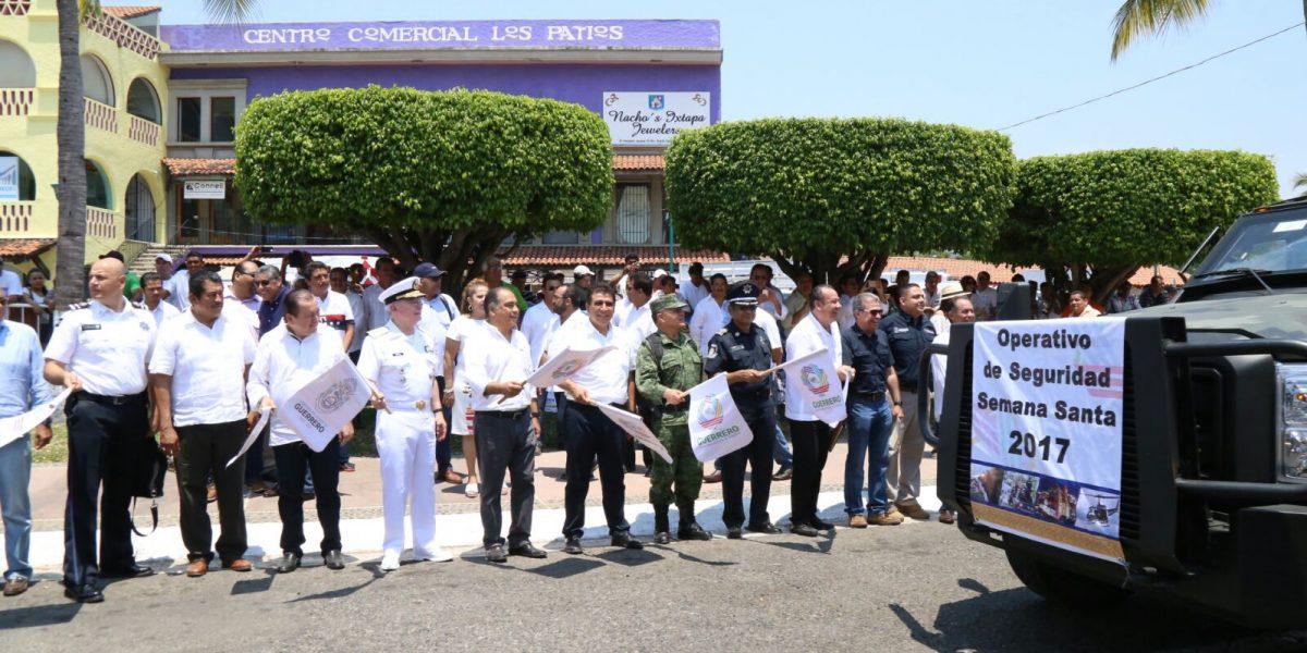 Astudillo da banderazo a operativo Semana Santa en Ixtapa-Zihuatanejo