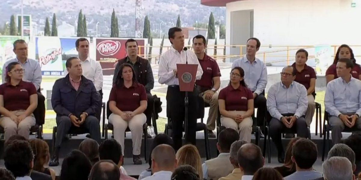 Primer trimestre logró cifra récord en generación de empleos, destaca Peña Nieto