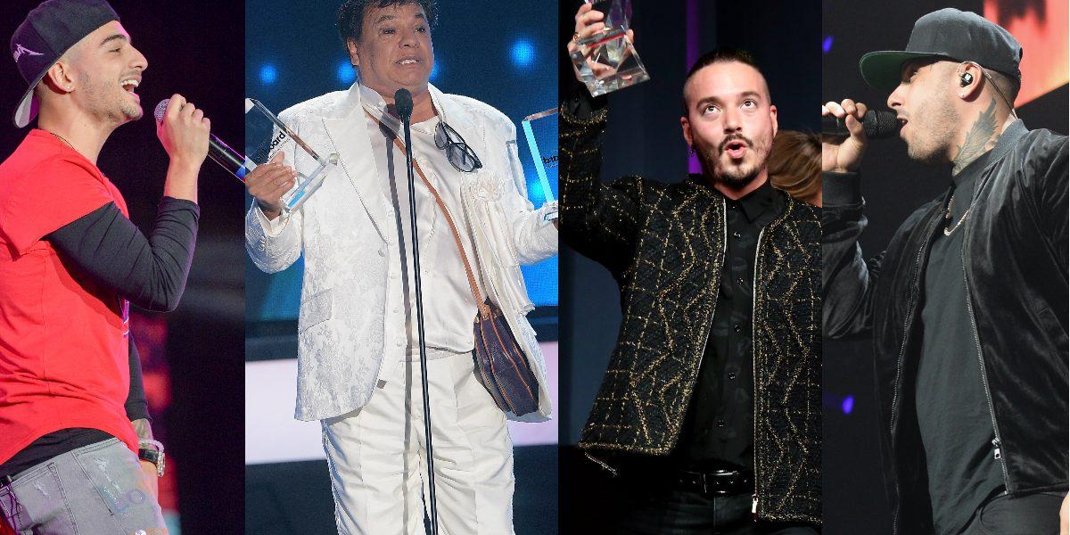 Juan Gabriel, J Balvin, Maluma y Nicky Jam nominados a premios Billboard