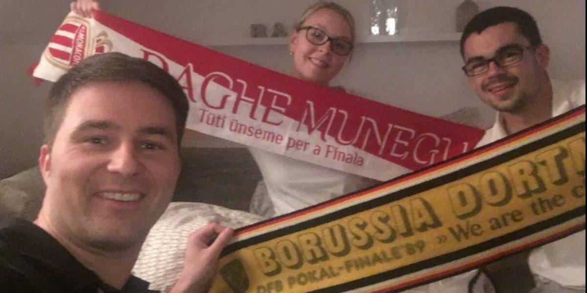 ¡Aprendan! Aficionados del Dortmund hospedan a hinchas del Mónaco