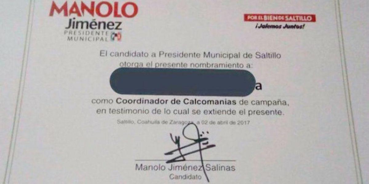 """PRI de Saltillo contrata  a """"coordinador de Calcomanías"""" para elecciones"""