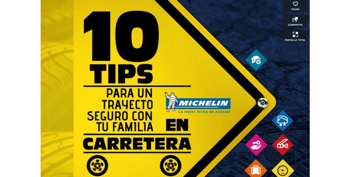 Infografía: 10 tips Michelin para viajar seguro en carretera