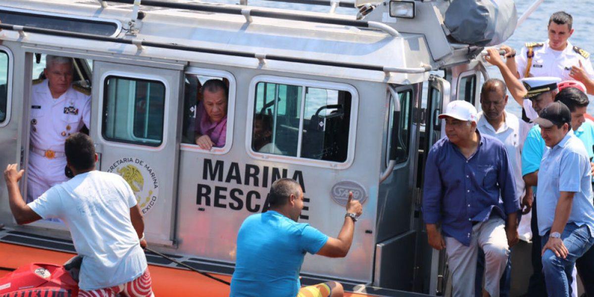 Astudillo supervisa seguridad en playas de Acapulco