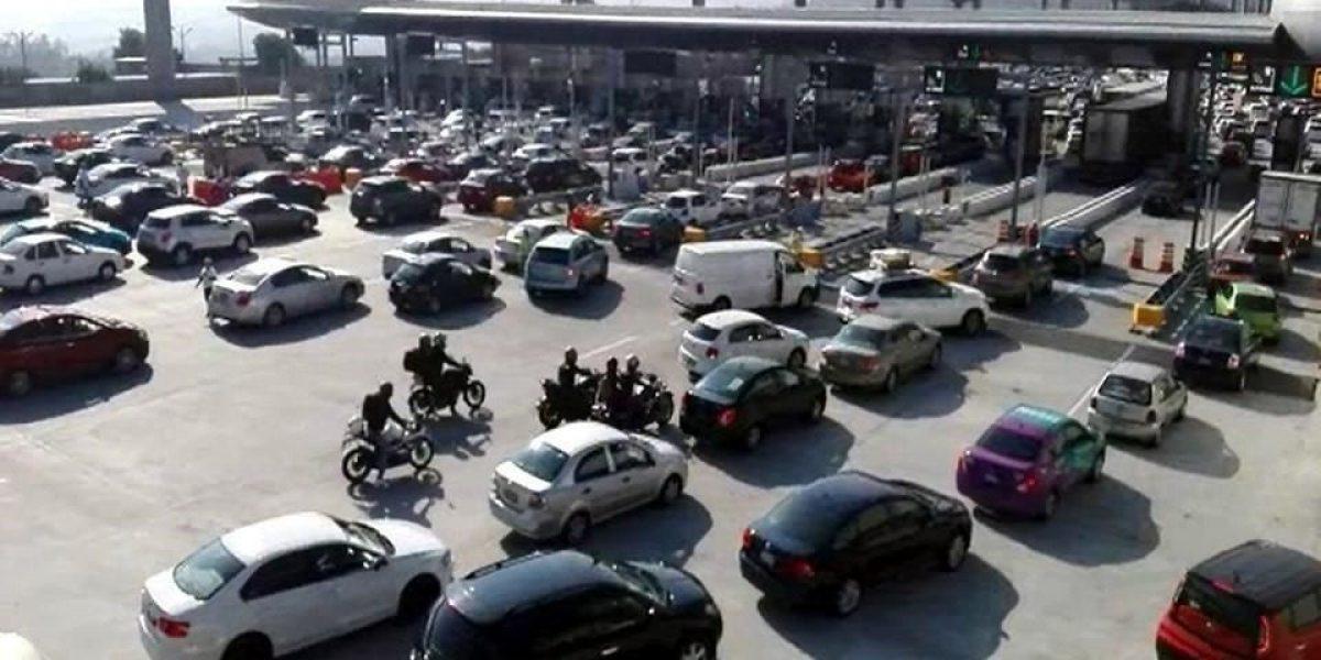 """La México-Cuernavaca """"imposible por el tráfico"""""""