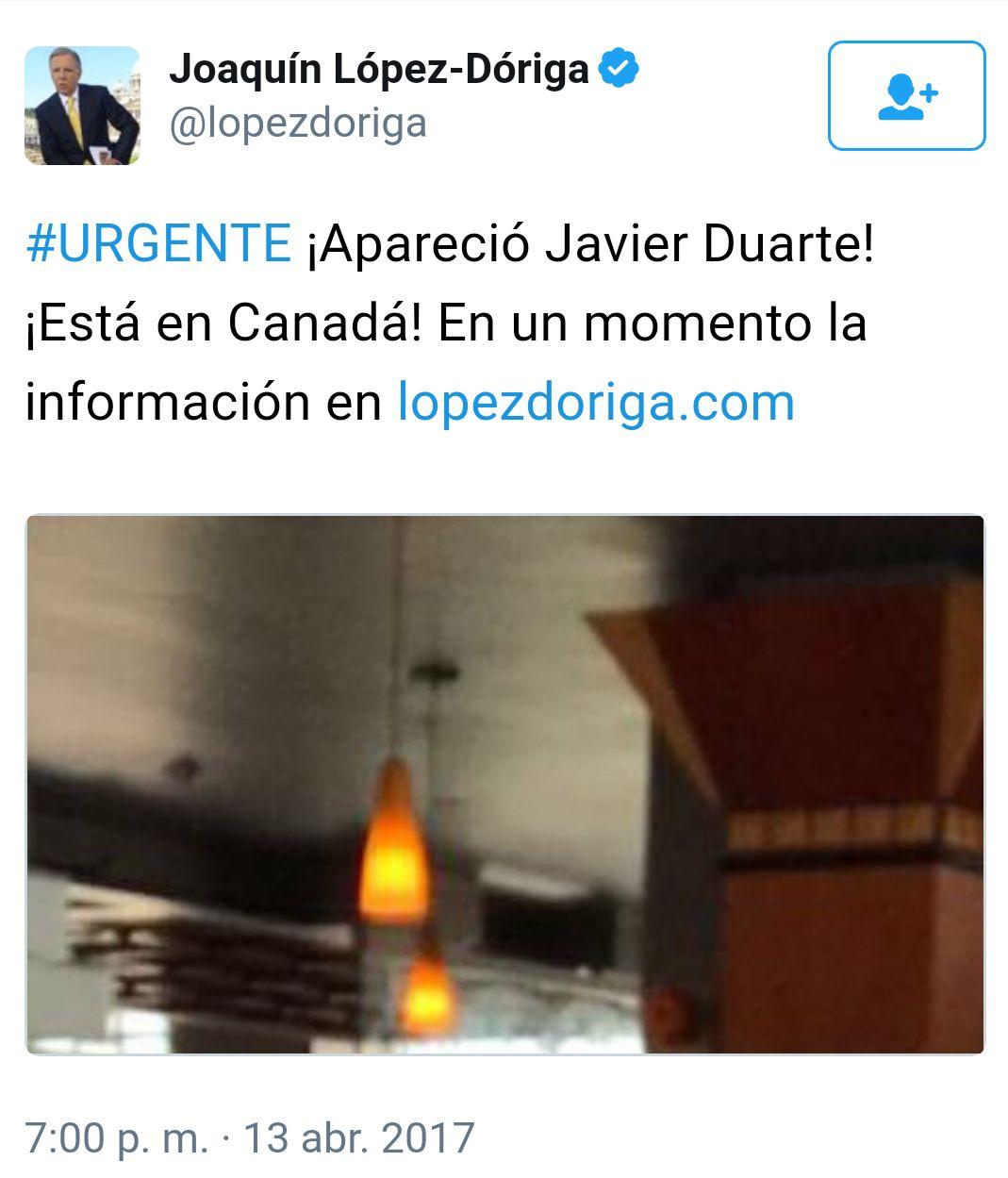 Javier Duarte, López Dóriga
