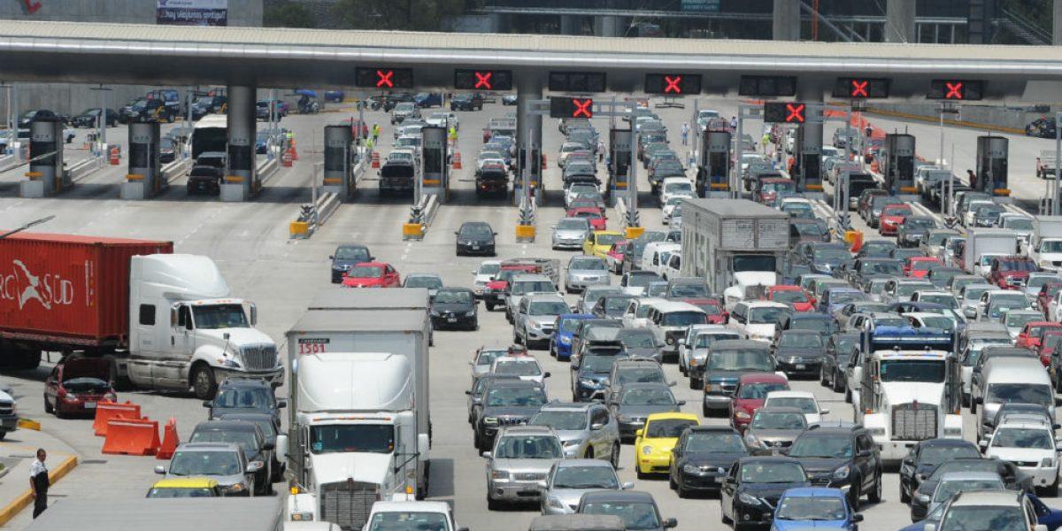Aumenta aforo vehicular en la México-Cuernavaca