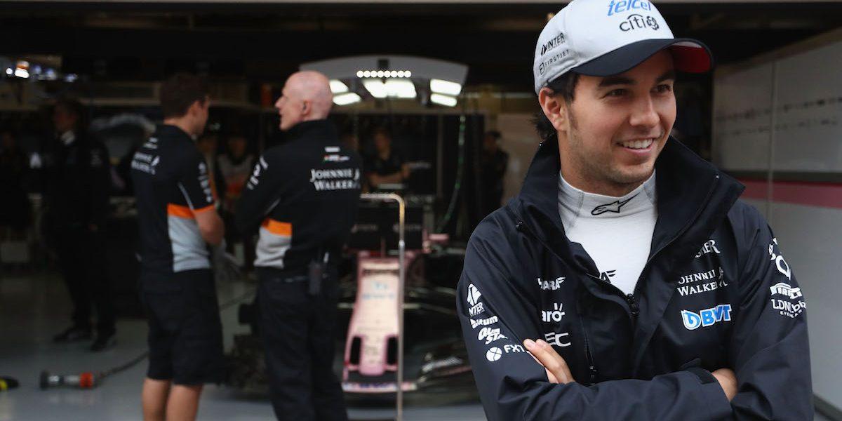 """""""Checo"""" Pérez empezó mal las pruebas para el GP de Baréin"""