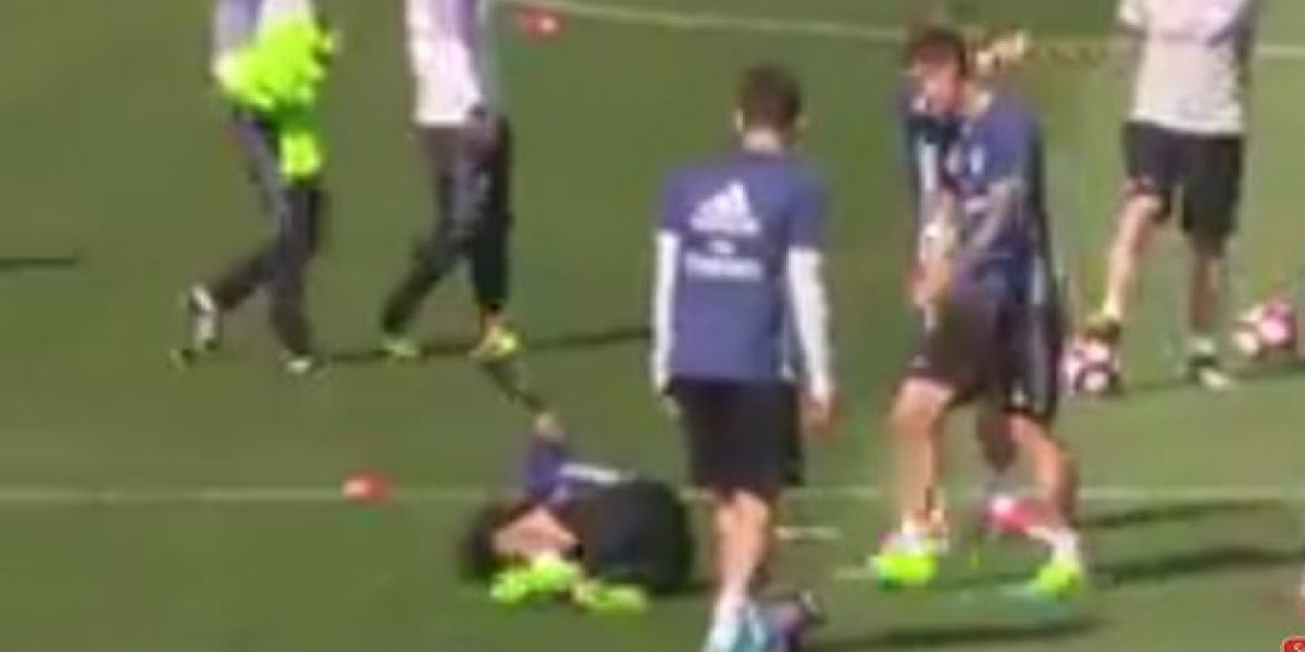 VIDEO: Cristiano da tremendo pelotazo en sus partes nobles a Marcelo