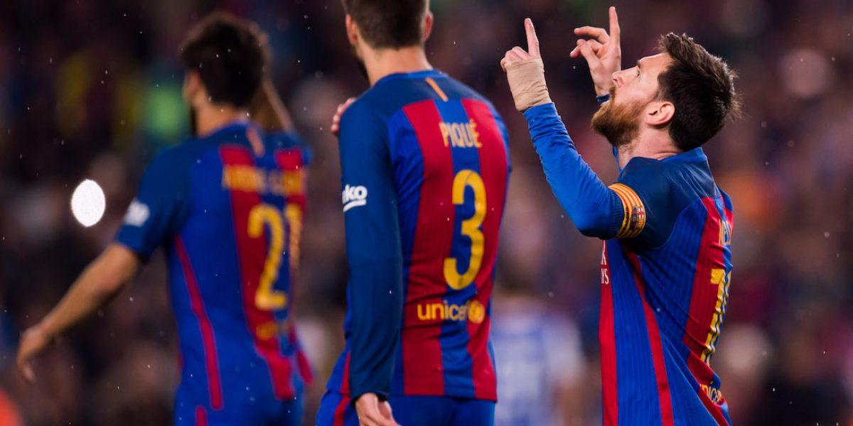 Messi mantiene con vida al Barcelona antes de visitar el Bernabéu