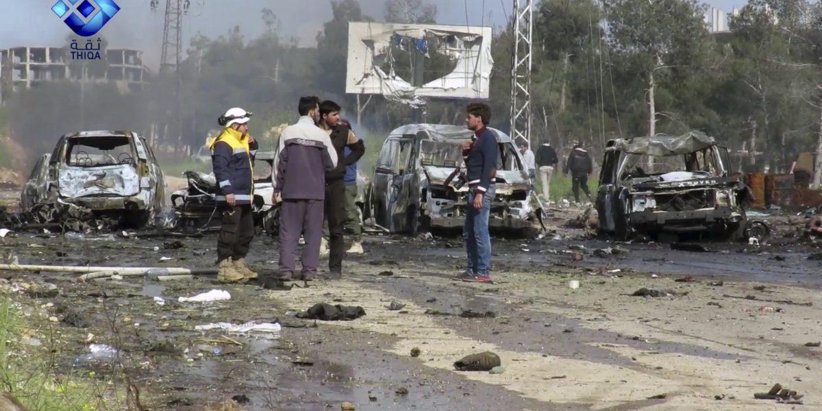 Explosión al oeste de Alepo deja más de 100 muertos