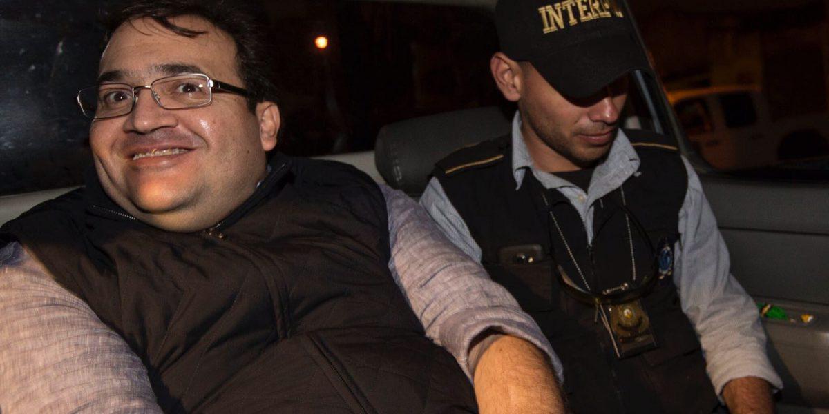 Javier Duarte aparece sonriente y tranquilo luego de su detención