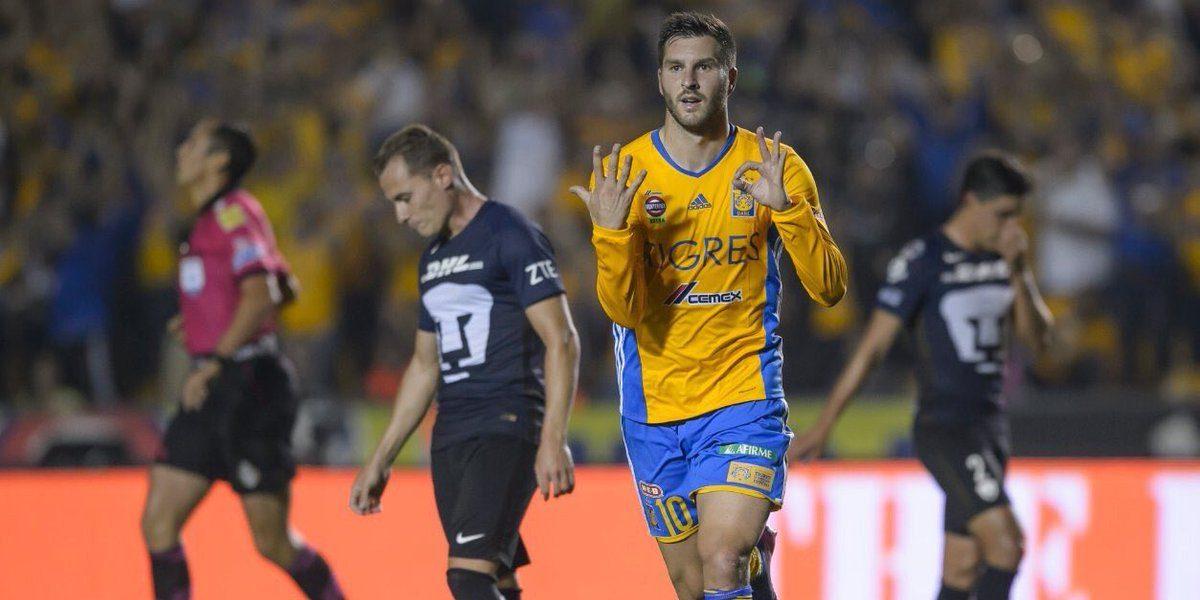Gignac celebra sus 50 goles con Tigres