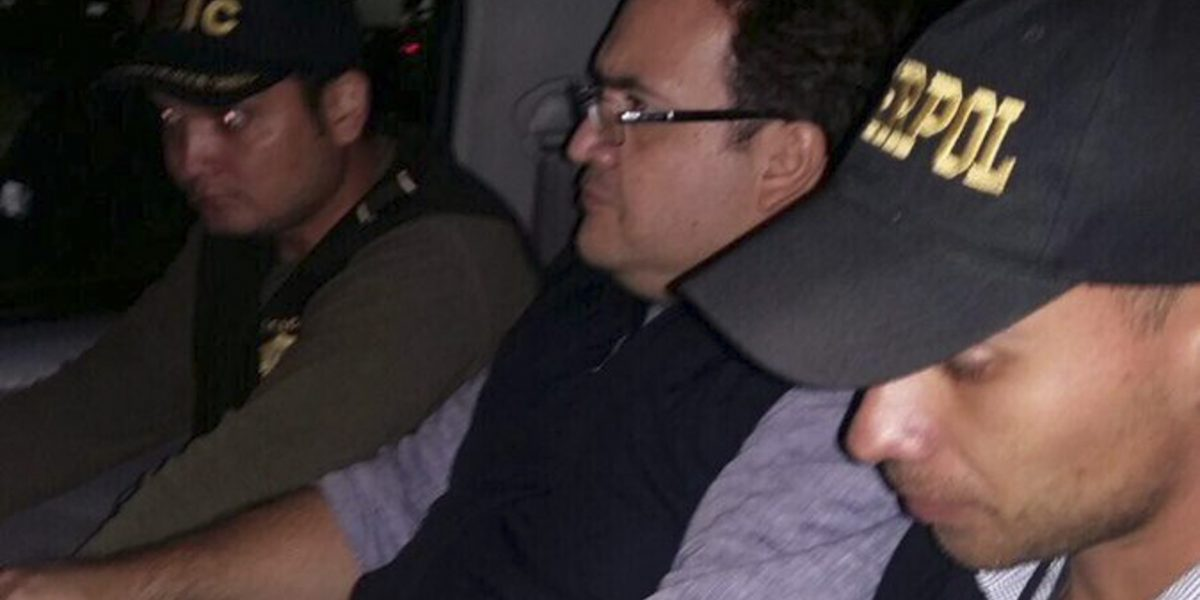 Interpol detuvo a Javier Duarte en Guatemala