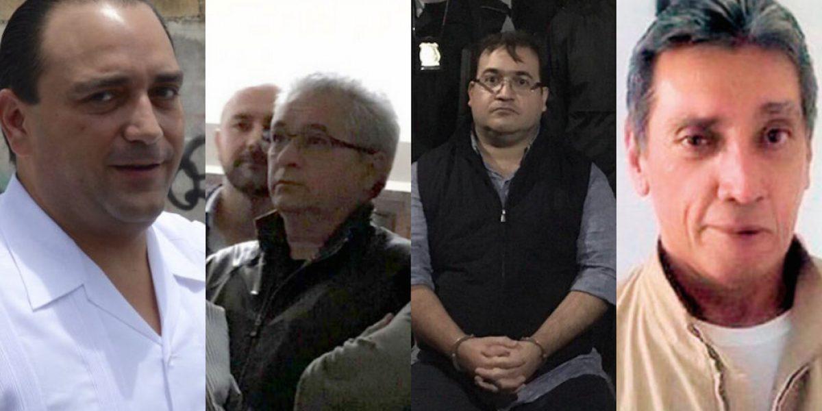Duarte, Yarrington, Padrés y otros nueve ex gobernadores acusados por corrupción