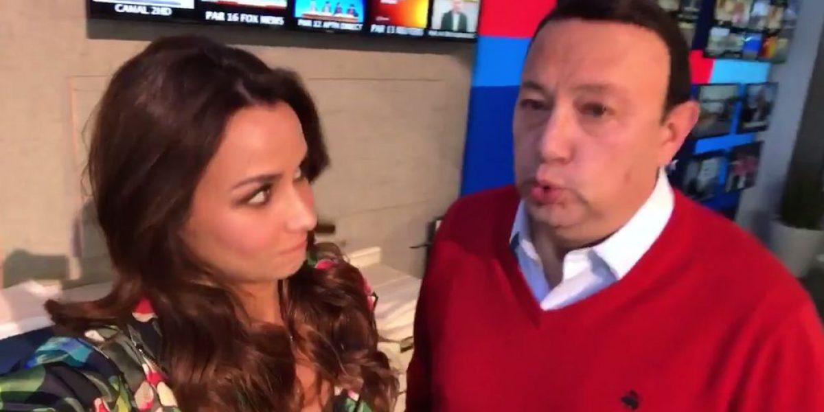 VIDEO: Toño de Valdés le juega broma a Odalys Ramírez en plena transmisión ¡en vivo!