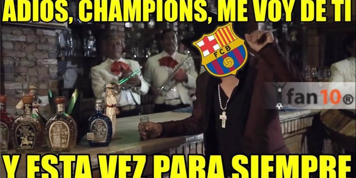 Con memes se burlan del Barcelona por no poder remontar ante Juventus